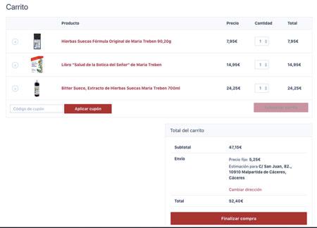 captura de web comprar hierbas suecas